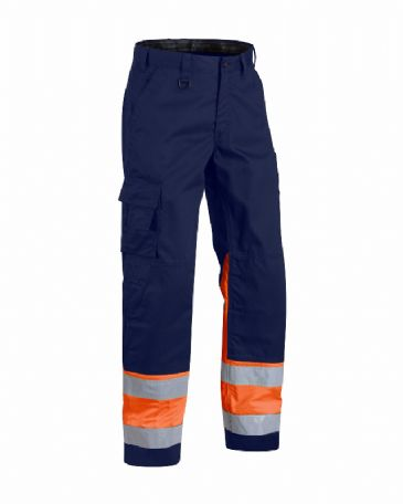Blaklader 1564 High Visibility Trouser (Navy Blue/Orange)